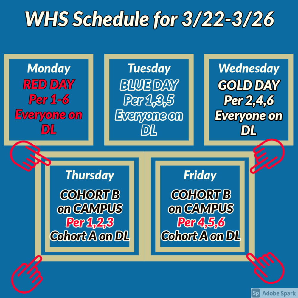 ATTN: NEW SCHEDULE THIS WEEK