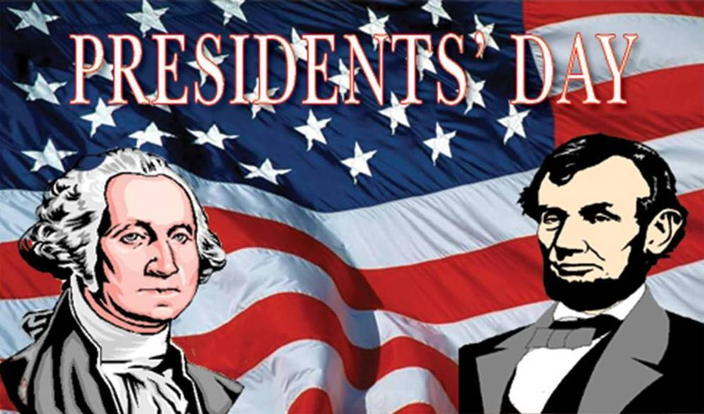 Presidents' Holiday Weekend Feb. 12th-15th
