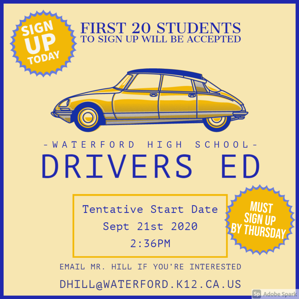 WHS Drivers Ed Sign-Ups