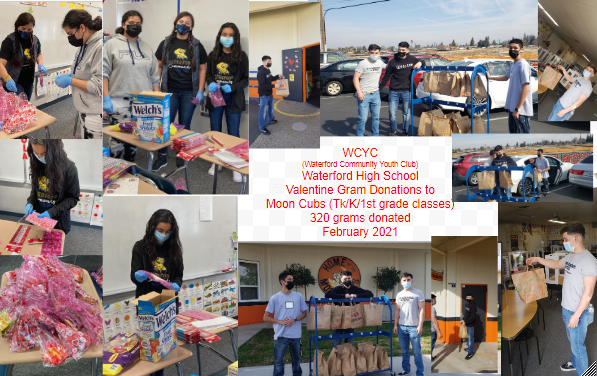 WCYC WHS Valentine Gram Donation to Moon School