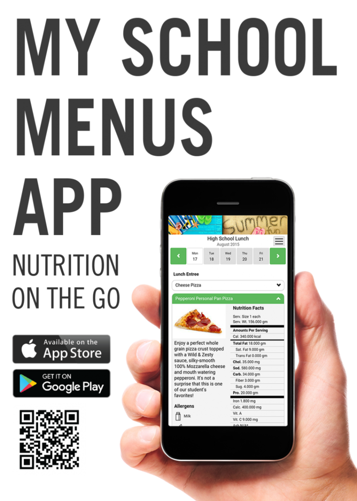New School Menu Website/App