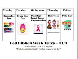 Red Ribbon Week 10/28 - 11/01/2019