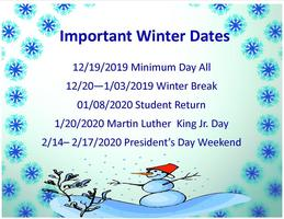 Important Winter Dates