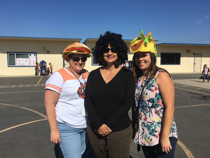 Moon School Teachers Crazy Hair/ Hat Day