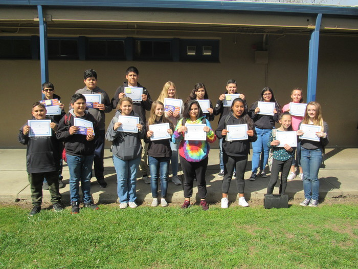 February Awards for Growth, Mindset and Perseverance (Be Professional). Alexander Barriga, Jonathan Castrejon, Alexa Del Toro,  Luna Duvall, Serenity Gilliam, Giselle Gonzalez, Mallory Henry, Juan Heredia Lepe, Jasmin Lopez, Aylin Mendoza, Tevani Ponder, Isreal Puga, Jesus Reyes,   Christopher Torres, Danielle Trahan and Kelli Ward.