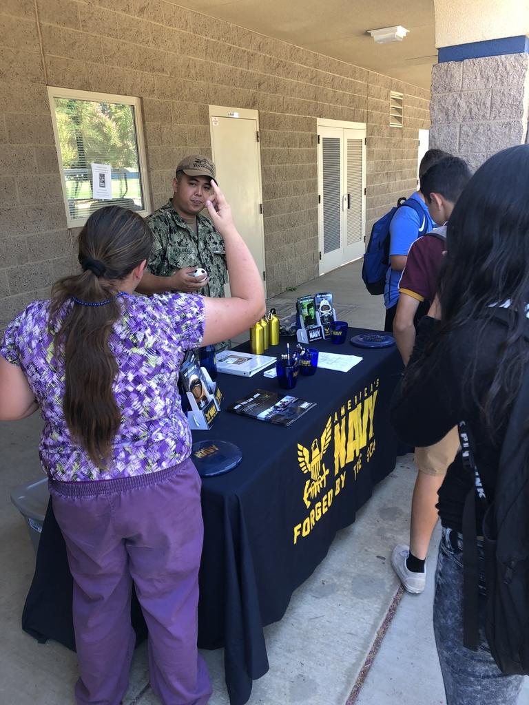US Navy talking with students about their future