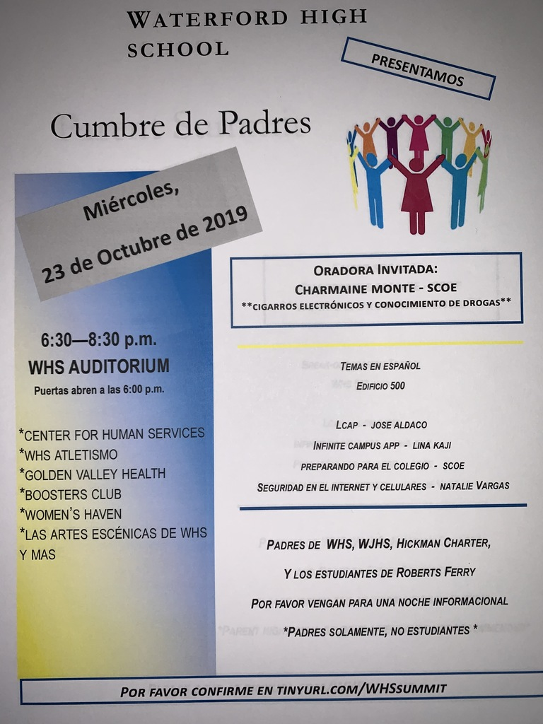 Spanish Parent Summit Flyer