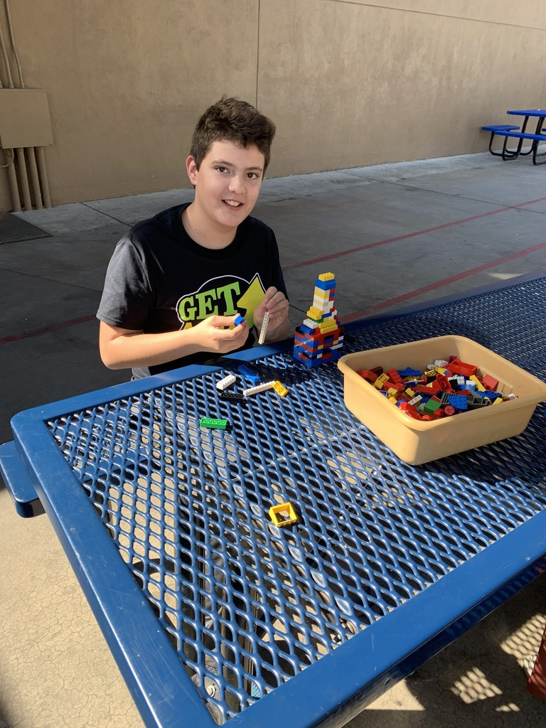 Legos at lunch