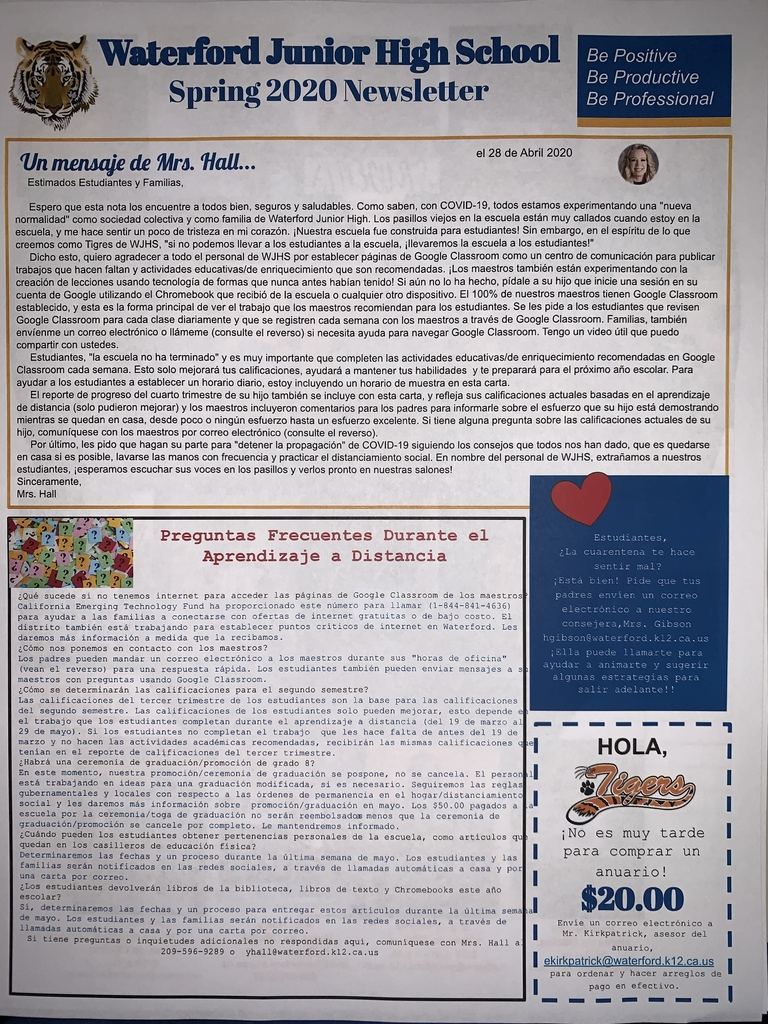 Spanish Newsletter