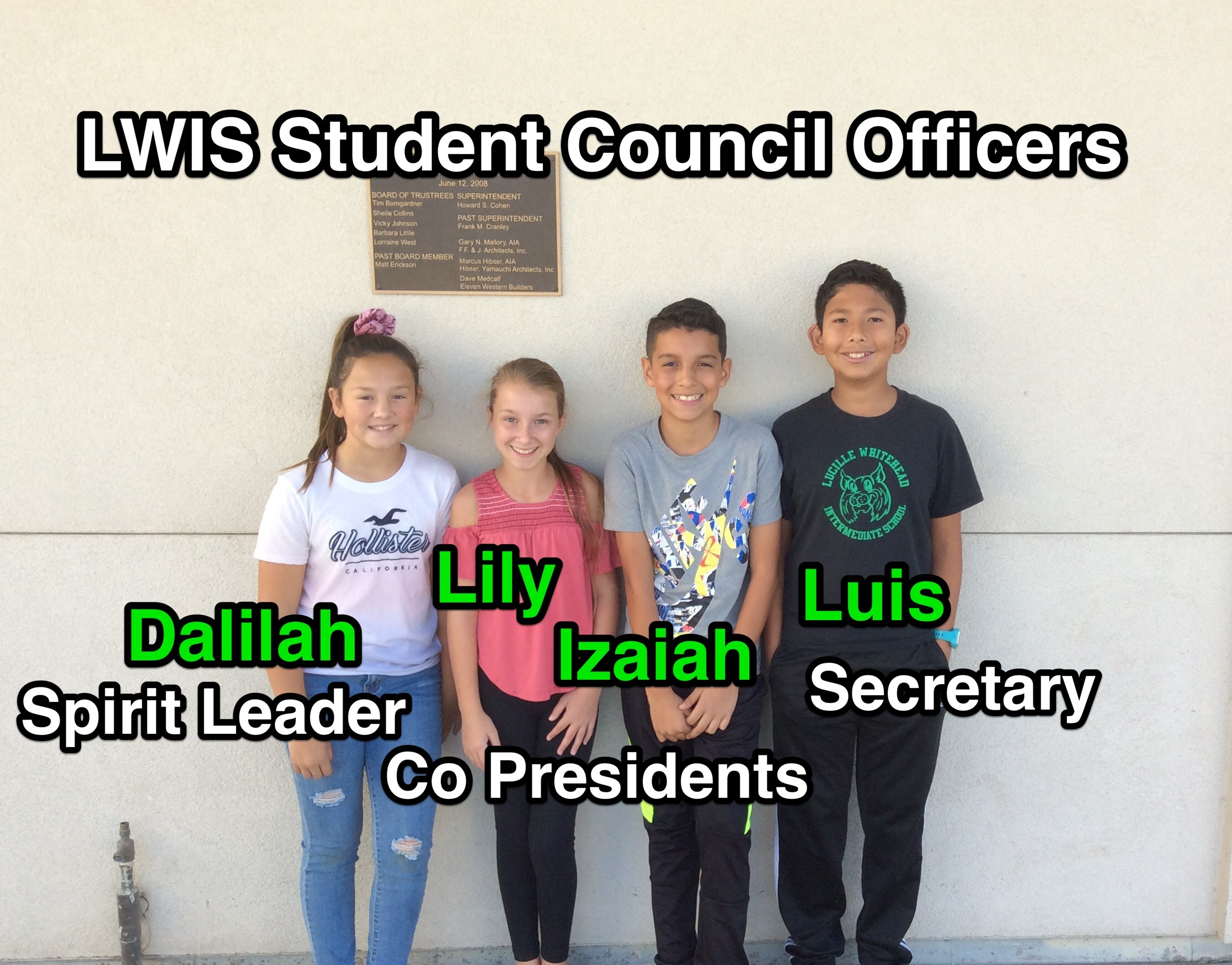 2019-2020 Student Council Officers